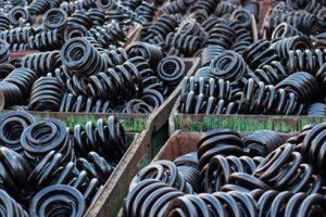 Ageing metal coil springs