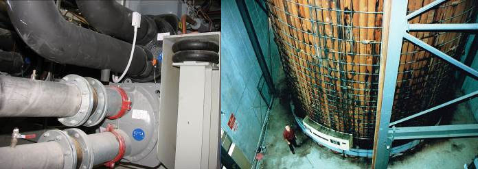 HVAC equipment and the sonar testing tank